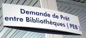 """Visuel décoratif pour annoncer le PEB """"""""Prêt entre bibliothèques"""""""