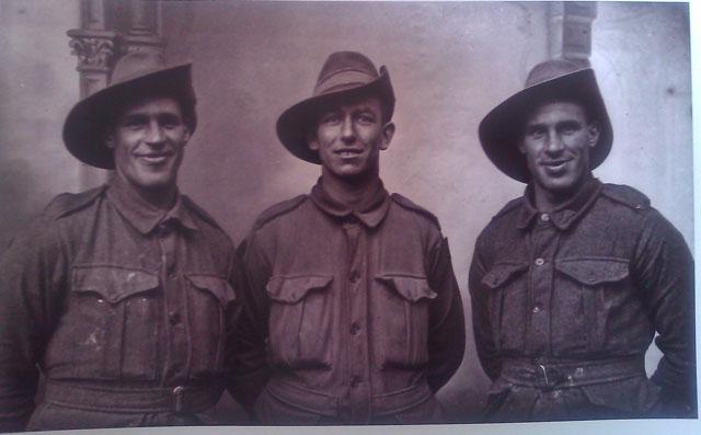 Photographie de soldats WW1