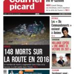 La Une du Courrier Picard du 03/01/17