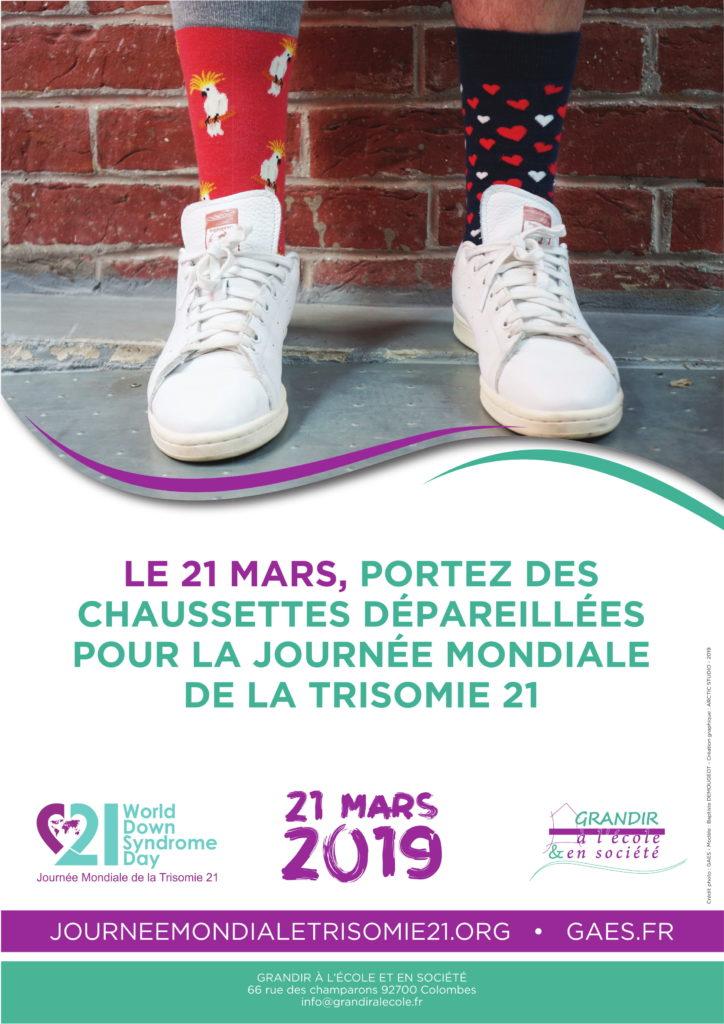 Le 21 mars, portez des chaussettes dépareillées pour la journée mondiale de la trisomie 21.