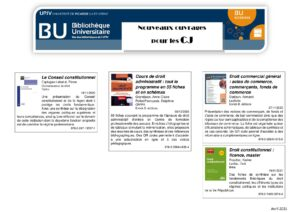 Liste des nouveaux ouvrages à la Bu de Soissons pour les CJ avril 2021