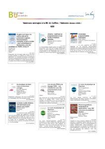Nouveaux ouvrages à la BU de Soissons, octobre 2020