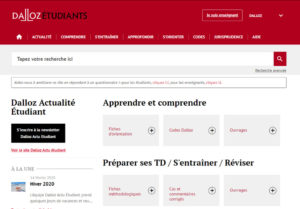 Visuel de la nouvelle interface du site Dalloz