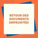 Visuel pour annoncer le retour des documents dans les BU