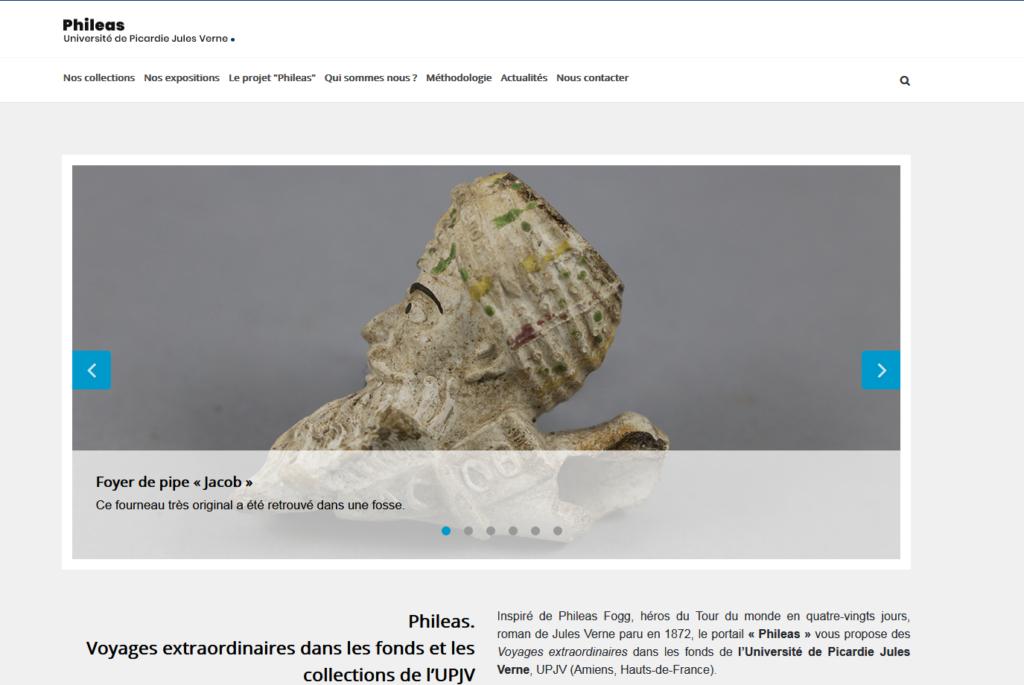 Visuel d'illustration : copie d'écran du site Phileas avec visuel sur un foyer de pipe jacob.