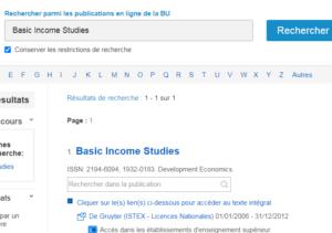 Visuel exemple recherche dans E-revues & E-books