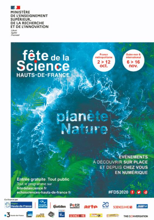 Affiche fête de la science haut de France 2020