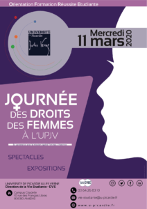Affiche journée des droits des femmes à l'UPJV 2020