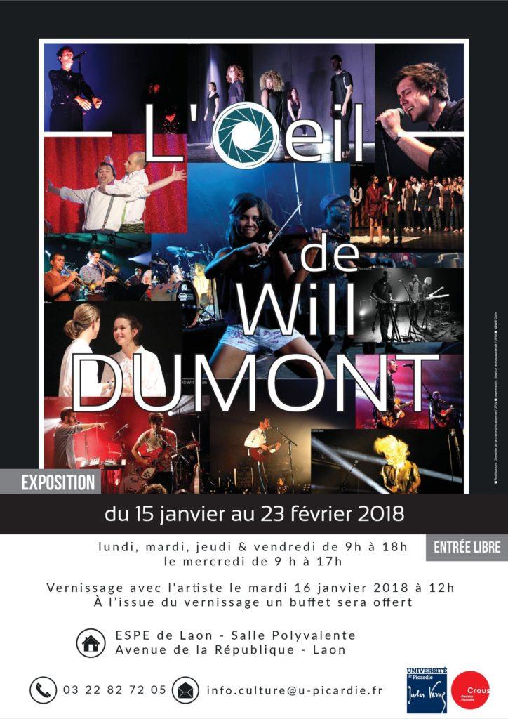 """Affiche exposition """"oeil de Will Dumont"""""""