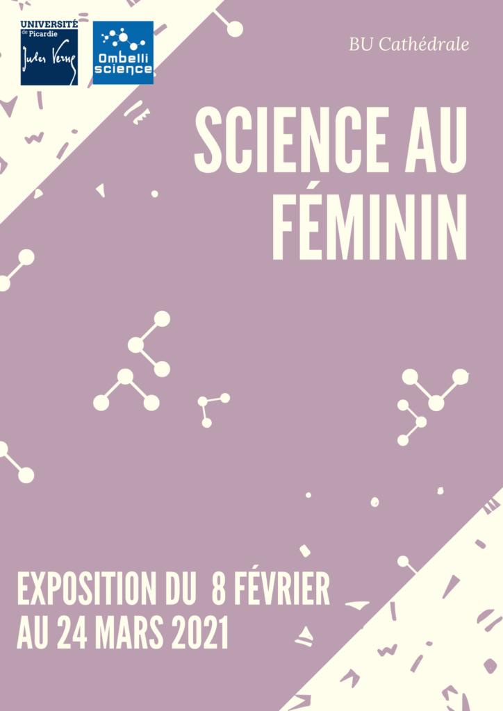 affiche science au féminin