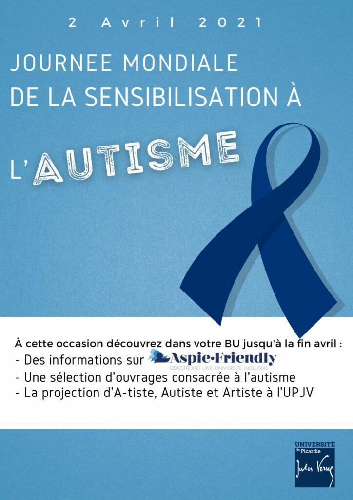 Affiche journée mondiale de la sensibilistaion à l'autisme