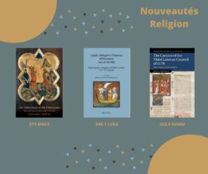 Nouveautés Religion