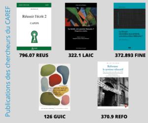 Publications des chercheurs du CAREF