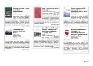 Image liste des nouveaux ouvrages à la BU de Cuffies pour les Staps - mai 2021