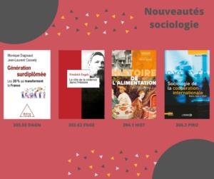 Nouveautés sociologie