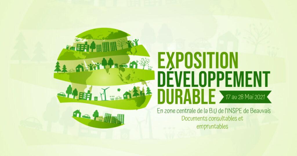 Affiche exposition thématique développement durable à la BU INSPE de Beauvais