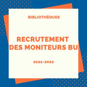 Visuel recrutement de moniteurs pour les BU, campagen 2021-2022