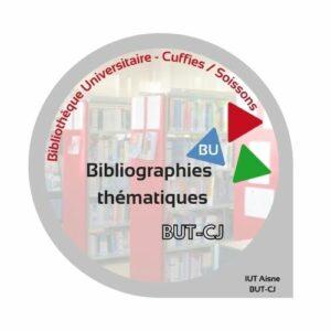 Visuel logo pour bibliographie thématique pour les étudiants en BUT carrières juridiques CJ